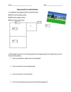 Playground Area and Perimeter