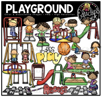 Playground Clip Art Bundle {Educlips Clipart}