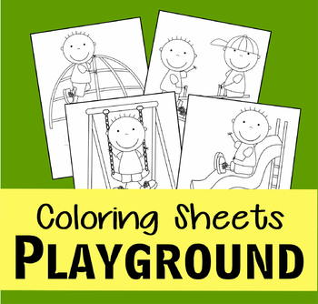 Playground Coloring Sheets