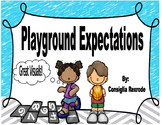 Playground Expectations, Rules, Reminders (Visuals to supp