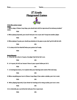 2nd-4th Grade Playground Games Unit