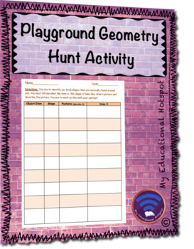 Playground Geometry Hunt Activity
