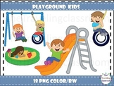 Playground Kids Clip Art