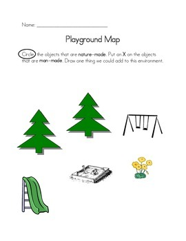 Playground Map - Man-made vs. Nature-made