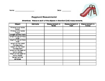 Playground Measurement!