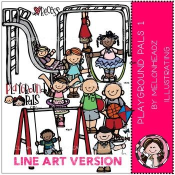 Playground Pals 1 by Melonheadz LINE ART