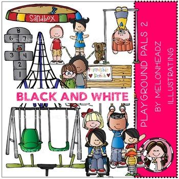 Playground Pals 2 by Melonheadz BLACK AND WHITE