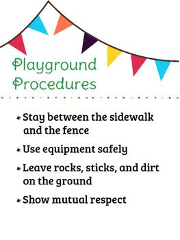 Playground Procedures