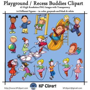 Playground and Recess Kids Clipart
