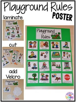 playground rules for preschoolers playground amp recess book posters amp student 131