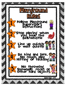 Playground Rules / Recess Rules