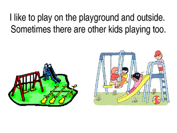 Playground Safe Hands social story