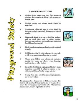 Playground Safety Lesson