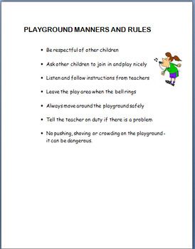 """""""Playground Safety"""" - Mini Lesson, 2 Activities, coloring page and short Quiz"""