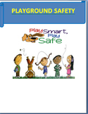 """Playground Safety"" - Mini Lesson, 3 Activities, coloring page and short Quiz"