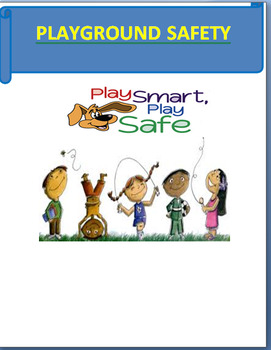 """""""Playground Safety"""" - Mini Lesson, 3 Activities, coloring page and short Quiz"""