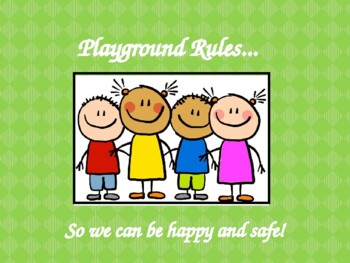 Playground Safety Rules PowerPoint