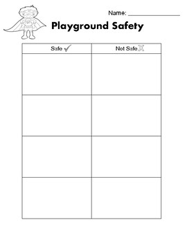 Playground Safety Worksheets & Teaching Resources | TpT