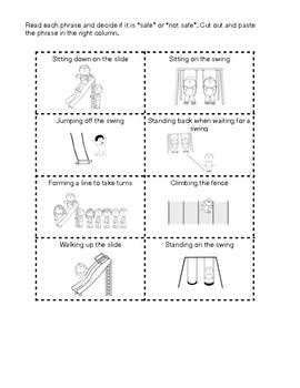 Playground Safety Worksheet