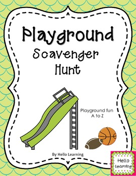 Playground Scavenger Hunt - Back to School Activity