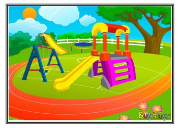 Playground Scene Vocabulary Development Barrier Game