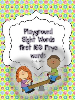 Playground Sight Words