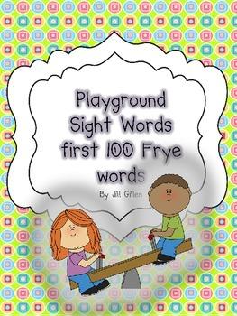 Playground Sight Words