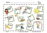 Playground ~ Spring ~ Math Mat ~ Roll and Cover (or) Color
