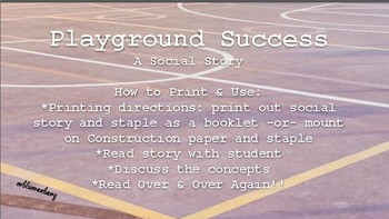Playground Success: A Social Story