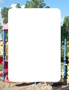 Playground Themed Print Out Border Page