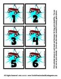Playground Transportation Theme Calendar Cover-Ups Memory Game - Preschool