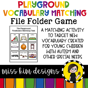 Playground Vocabulary Folder Game for Special Education