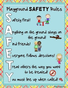 Playground and Recess SAFETY Rules Posters