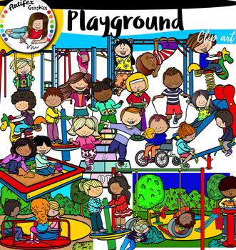 Playground clip art- big set of 68 items!