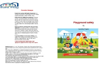 Playground safety brochure
