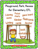 Playground, Playground, Recess Verbs Theme  for Elementary  ELL
