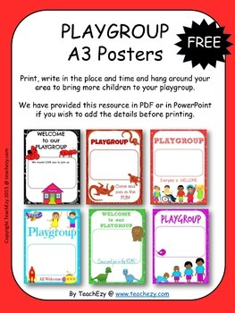 Playgroup Posters Free Resource PDF version