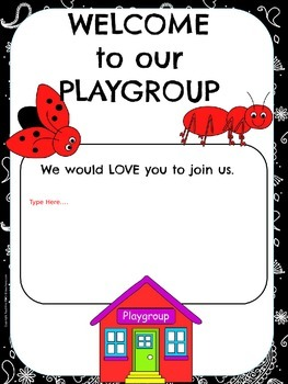 Playgroup Posters Free Resource PowerPoint version