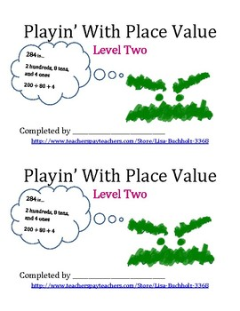 Playin' With Place Value: Level Two