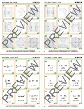 """Playing """"A Round"""" with Pi: Cards for Circumference, Perimeter, Area"""