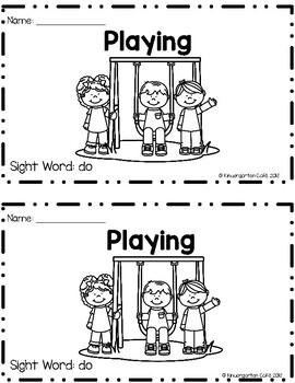 """Playing! A Sight Word Emergent Reader """"Do"""""""