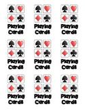 Playing Card Box Label