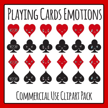 Playing Card Characters / Emotions / Expressions / Feelings Clip Art