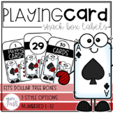 Playing Card Snack Box Label
