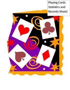 Playing Card Statistcs/Records Sheet