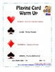 Playing Card Warm Up