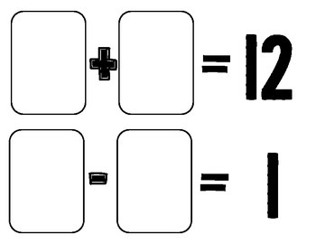 Playing Cards Addition/Subtraction Mats