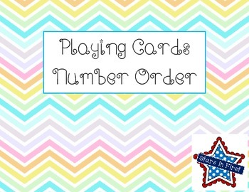 Math Number Order with Playing Cards (Differentiated)