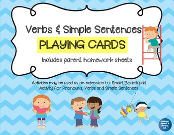 Playing Cards for Verbs and Simple Sentences