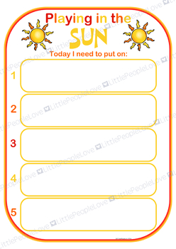 Playing In The Sun Routine Chart